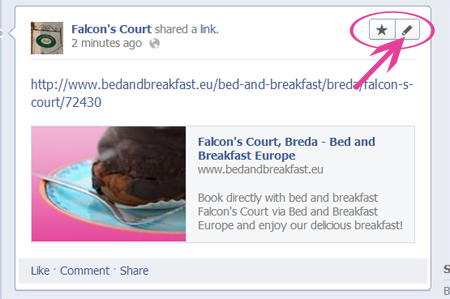 Bed & breakfast on Facebook