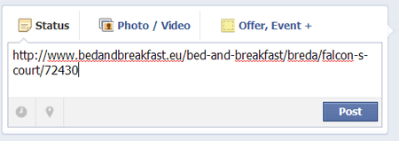 Bed and breakfast on Facebook