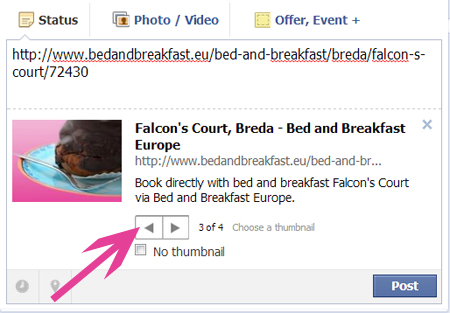 Create a Facebook page for your bed and breakfast