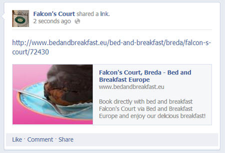 Posting on your bed & breakfast page