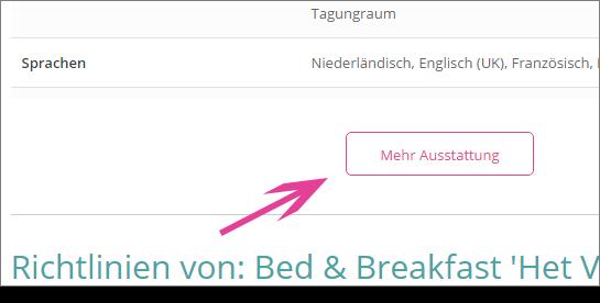 Bed and Breakfast ontbijt invullen DE