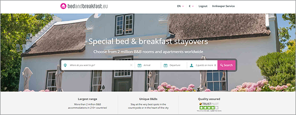 Bed and Breakfast Europe
