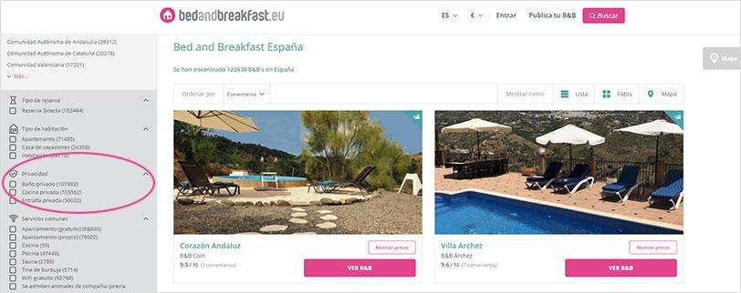Bedandbreakfast.eu; B&Bs con privacidad extra para una Estancia Sin Contacto